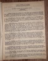 MINES D'OR DE SALSIGNE AUDE Rapport E MONTEL 1955 Mine Mineurs - Documents Historiques