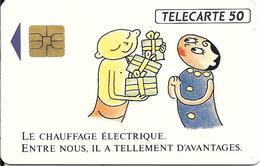 CARTE-PUCE-PRIVEE-PUBLIC- 50U-EN 310-SO3-02/92-EDF-Chauffage Electrique--Utilisé-TBE-LUXE - 50 Unités