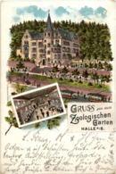 Gruss Aus Dem Zoologischen Garten Halle - Litho - Halle (Saale)