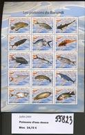 2009.  Burundi  Bloc Poissons D'eau Douce   Cote 55,00 Euros   Fish. Vis - 2000-09: Mint/hinged