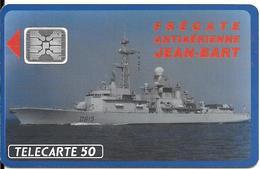 CARTE-PUCE-PRIVEE-PUBLIC- 50U-EN 519-SC4-12/92-FREGATE J BART-V° Impact N°44517-Utilisé-TBE-LUXE - 50 Unités
