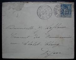 Nuits Saint Georges 1898 (Côte D'or)  Boîte Rurale J + Daguin Sur Lettre Pour Dijon - Storia Postale