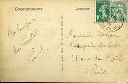 LE PORTEL PAS DE CALAIS 1926 Cachet Type A4 Semeuse 10c + 5c Blanc Sur Carte Postale Le Fort De L'Heurt Napoléon - Bolli Manuali