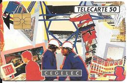 CARTE-PUCE-PRIVEE-PUBLIC- 50U-EN 502-GEMA-12/92-CEGELEC-V°Série B-R°Glacé-Utilisé-TBE-LUXE - France