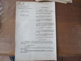 ETAT FRANCAIS LE 8 NOVEMBRE 1941 PREFECTURE DU NORD ET DU PAS DE CALAIS FIXATION DU PRIX DE CHARBON DE BOIS F.CARLES A.B - Historische Dokumente