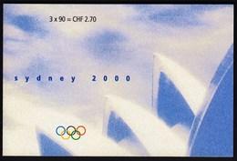 Switzerland 2000 / Olympic Games Sydney / Triathlon - Swimming, Cycling, Running / Markenheftchen, Booklet, Carnet MNH - Verano 2000: Sydney