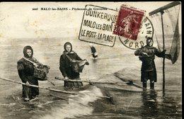 DUNKERQUE MALO LES BAINS LE PORT LA PLAGE Daguin De Malo 1926 Carte Postale Pêcheuses De Crevettes - Marcophilie (Lettres)