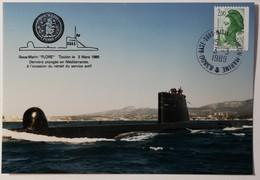"""Sous-Marin """"FLORE"""" S645 - Base Sous-Marins - Toulon Marine - Le 3 Mars 1989 - Guerre"""