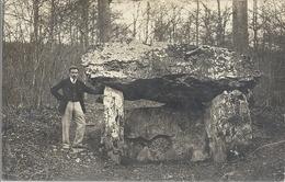 CPA Scène Et Type Bretagne Dolmen Carte Photo - Autres Communes