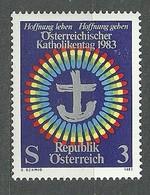 Austria, 1983 (#1787a),  Austrian Catholic Congress With Pope John Paul II, Katholikentag, Emblem Of Papal Visit - 1v - Christianity