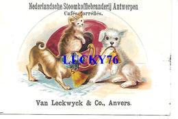 Chromo Van Leckwyck & C° Cafes Torrefié Anvers  (trace De Papier Collé Au Verso Voir Scanne) - Tea & Coffee Manufacturers