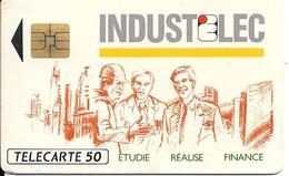 CARTE-PUCE-PRIVEE-PUBLIC- 50U-EN 542-SO3-12/92-INDUSTELEC-R°Mat-Utilisé-TBE-LUXE - 50 Unités