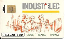 CARTE-PUCE-PRIVEE-PUBLIC- 50U-EN 542-SO3-12/92-INDUSTELEC-R°Mat-Utilisé-TBE-LUXE - France