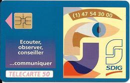 CARTE-PUCE-PRIVEE-PUBLIC- 50U-EN 514-SO3-12/92-SDIG 1993-R°Mat-Utilisé-TBE-LUXE - France