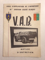 Notice D'entretien V.A.B. - Veicoli