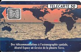 CARTE-PUCE-PRIVEE-PUBLIC- 50U-EN492-SC4-12/92-ALCATEL ESPACE-R°Mat-Utilisé-TBE-LUXE - 50 Unités