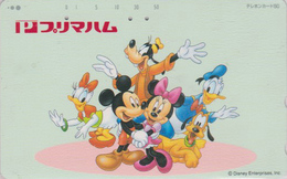 TC JAPON / 110-834 - DISNEY - MICKEY MINNIE DONALD DAISY Pluto Chien Dog ** Primaham  ** JAPAN Phonecard  - MD 4066 - Disney