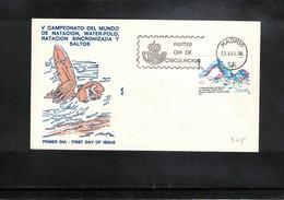 Spain 1986 World Swimming,waterpolo Championship FDC - Schwimmen
