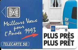CARTE-PUCE-PRIVEE-PUBLIC- 50U-EN501-SC4-12/92-EDF DOUAI VOEUX 93-V°Imp 44285-Utilisé-TBE-LUXE - 50 Unités