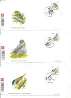 Belgique -Oiseaux -Buzin  ( 3 FDC De 2005 En Série Complète à Voir) - FDC