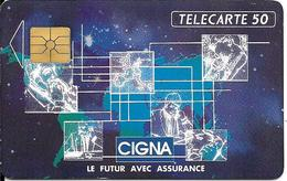 CARTE-PUCE-PRIVEE-PUBLIC- 50U-EN541-GEMA-12/92-CIGNA-V° Série A-R° Glacé--Utilisé-TBE-LUXE - 50 Unités