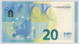 RARE 20 EURO IRELAND DRAGHI T001 A1 UNC - EURO