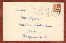 Drucksache, Frauenkirche Muenchen, MS Sammelt Altpapier Krefeld, Nach Essen 1949 (91535) - Zone Anglo-Américaine