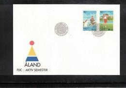 Aland 1995 Sports - Golf FDC - Golf