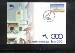 Bosnia And Herzegowina 2001 Mediterranean Games Tunis FDC - Segeln