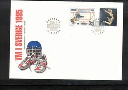Sweden 1995 World Hockey And Athletics Championships FDC - Eishockey