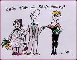 Carte Postale : Radio Michu Où Radio Pointue ? - Illustration : Wolinski - Wolinski