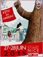 Carte Postale : Fête Du Chateau 2015 (PCF - Front De Gauche) Nice - Illustration : Wolinski - Wolinski