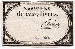 FRANCIA  ASSIGNAT 5 LIVRES 1793 P-A-76 - ...-1889 Anciens Francs Circulés Au XIXème