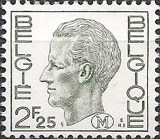 BELGIUM - DEFINITIVES: MILITARY STAMP, KING BAUDOUIN (2.25Fr) 1972 - MNH - Filatelia & Monete