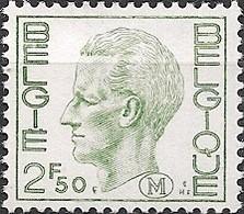 BELGIUM - DEFINITIVES: MILITARY STAMP, KING BAUDOUIN (2.5Fr) 1974 - MNH - Filatelia & Monete