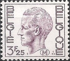 BELGIUM - DEFINITIVES: MILITARY STAMP, KING BAUDOUIN (3.25Fr) 1975 - MNH - Filatelia & Monete