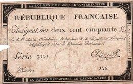 FRANCIA  ASSIGNAT 250 FRANCS 1793 P-A 75 - ...-1889 Francos Ancianos Circulantes Durante XIXesimo
