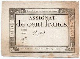 FRANCIA  ASSIGNAT 100 FRANCS 1795 P-A 78 - ...-1889 Francs Im 19. Jh.