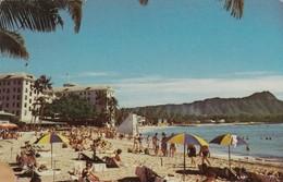 Postcard Diamond Head And The Moana Hotel At World Famed Waikiki Hawaii My Ref  B14002 - Honolulu