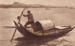 China Unknown Harbor, Chinese Sampan Boat C1960s/70s(?) Vintage Postcard - China