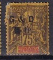 GUADELOUPE - 1 F. Sur 75 C. De 1903 Neuf Avec Le 1 Renversé - Unused Stamps