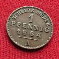 Germany Reuss 1 Pfenning 1864  Alemania Allemagne - Otros