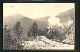 AK Yverdon-Ste-Croix, Bergbahn In Fahrt, Arrivee Aux Rapilles - Schienenverkehr