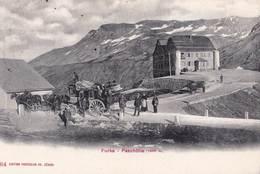 CPA  : Valais Ol De La  Furka Passhohe    Diligence 4 Chevaux      Edition Photoglos 684 - VS Valais