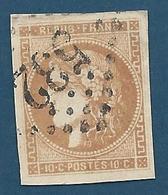FRANCE - 1870 - Cérès - YT N°43A Report 1 - 10 C. Bistre - Oblitéré Losange 532 - Belles Marges - TB Etat - 1870 Emission De Bordeaux