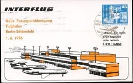 DDR PP17 D2/001 Privat-Postkarte FLUGHAFEN BERLIN-SCHÖNEFELD Sost.1976  NGK 5,00 € - [6] Oost-Duitsland