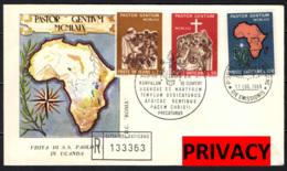 VATICANO - 1969 - VIAGGIO DI PAOLO VI NELL'UGANDA - FDC - FDC