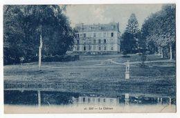 GIF  --1937--Le Chateau .....timbre....cachet  PARIS 24 ..............à Saisir - Gif Sur Yvette