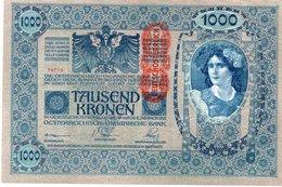 AUSTRIA 1000 KRONEN  1919  P-59  UNC - Austria