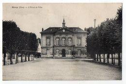 MOUY -- 1937--L'Hôtel De Ville  .....timbre....cachet   ..............à Saisir - Mouy